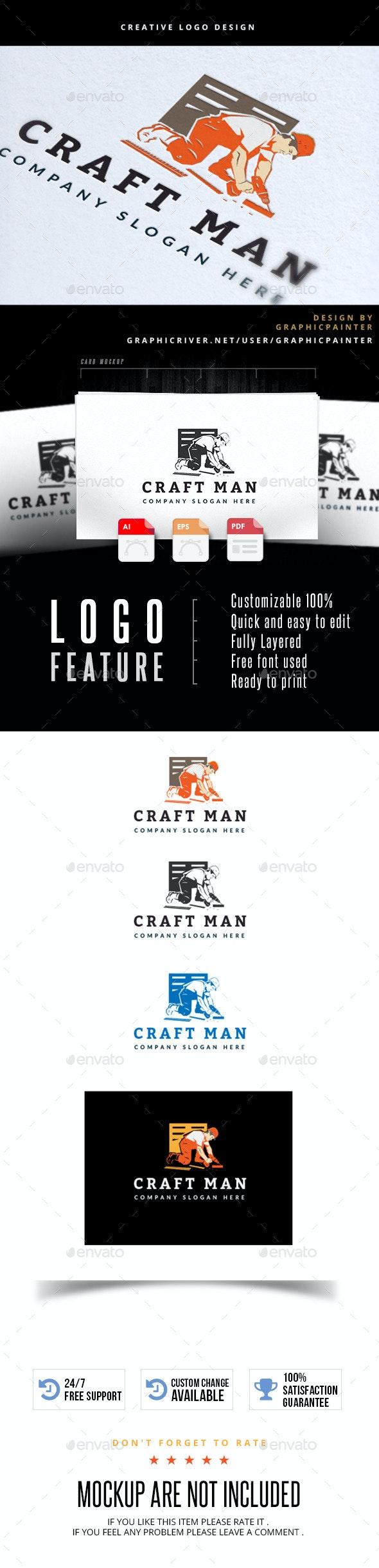 Craft Man - Humans Logo Templates