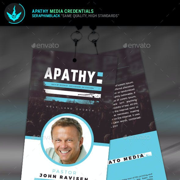Apathy Media Credentials Template