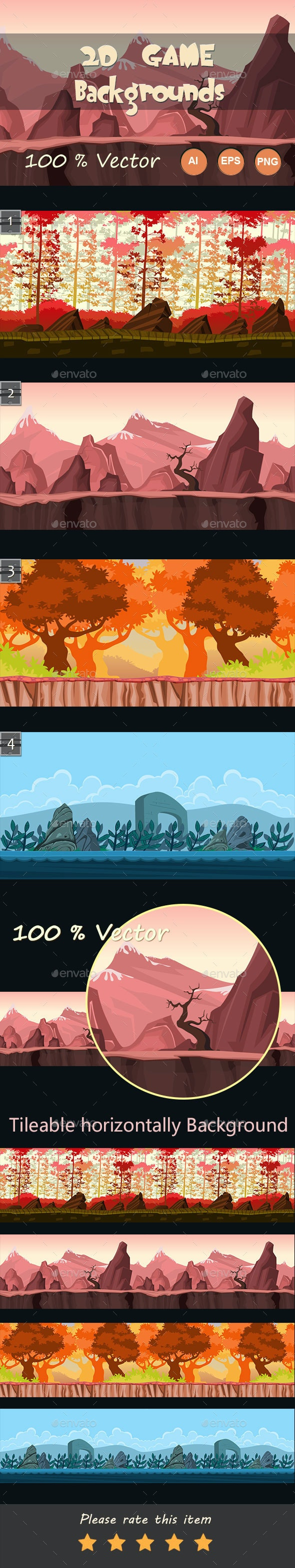 2d game backgrounds - Backgrounds Game Assets