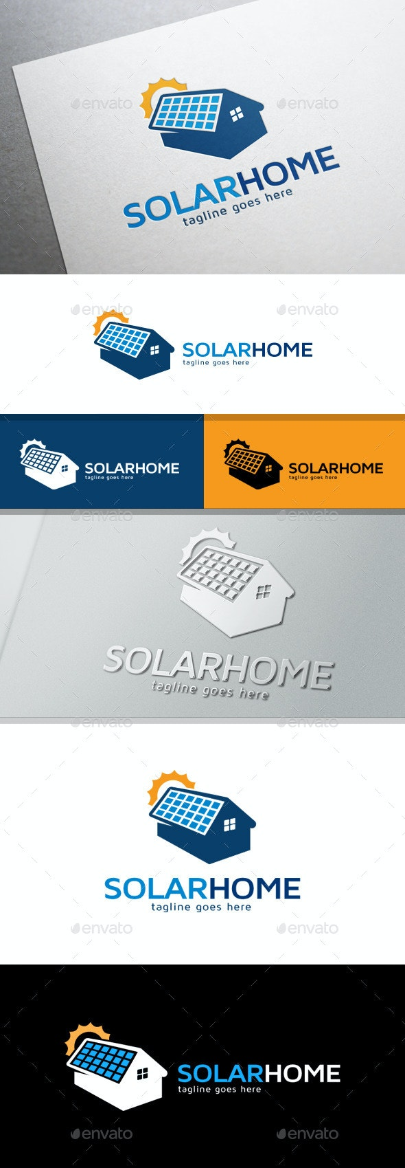 Solar Home Logo - Buildings Logo Templates