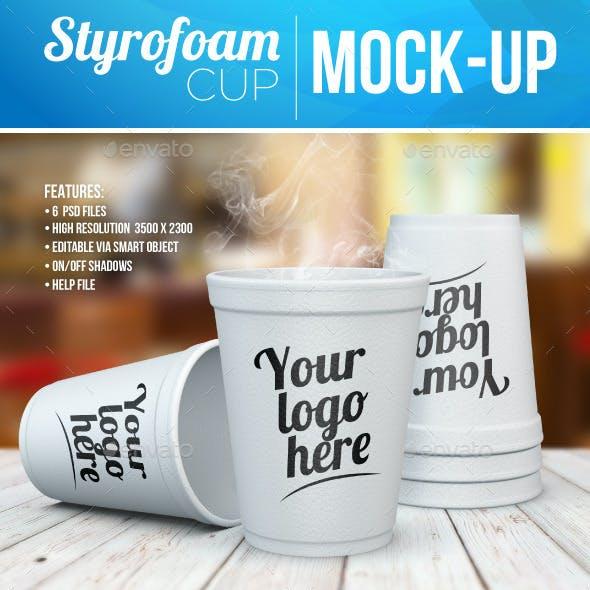 Styrofoam Cup Mock-Up