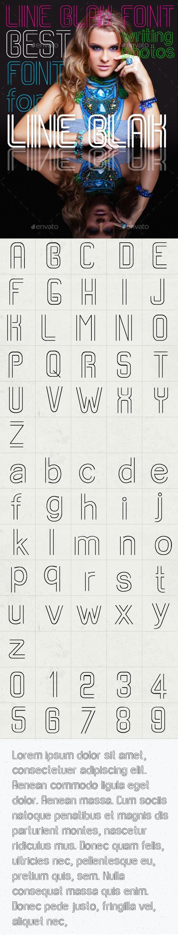Line Blank Font - Script Fonts