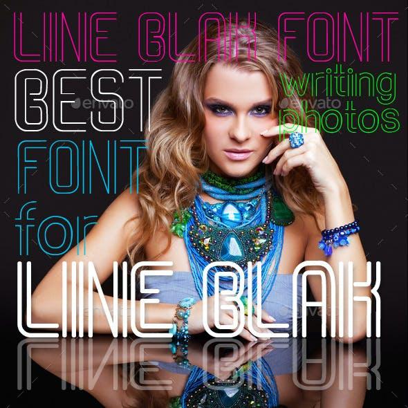 Line Blank Font