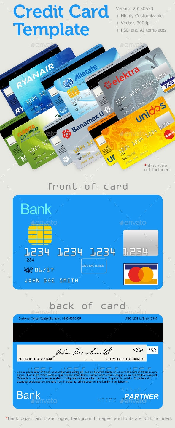 Credit Card Template - Miscellaneous Graphics