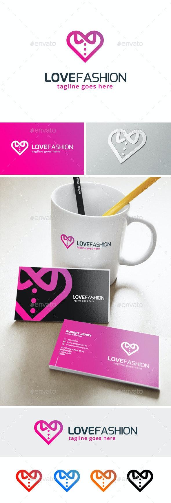 Love Fashion Logo - Objects Logo Templates