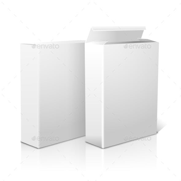 Two Realistic Blank Paper Packages For Cornflakes