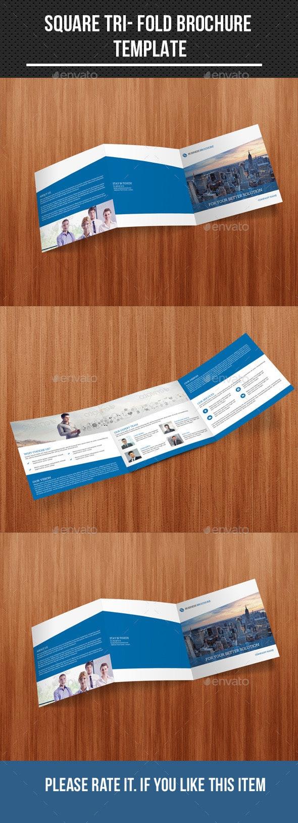 square tri fold business brochure - Corporate Brochures