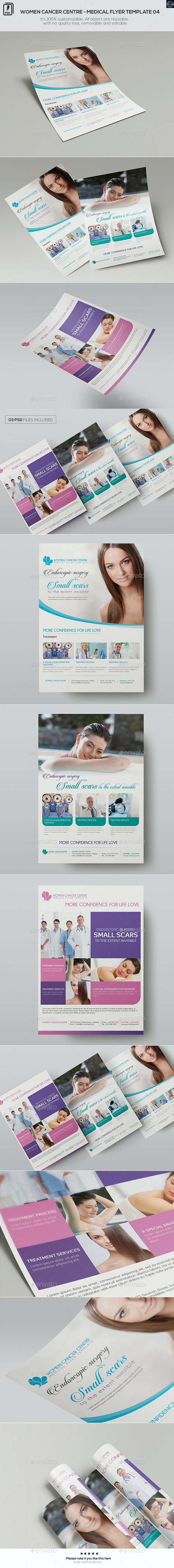 Women Cancer Centre - Medical Flyer Template 04 - Corporate Flyers