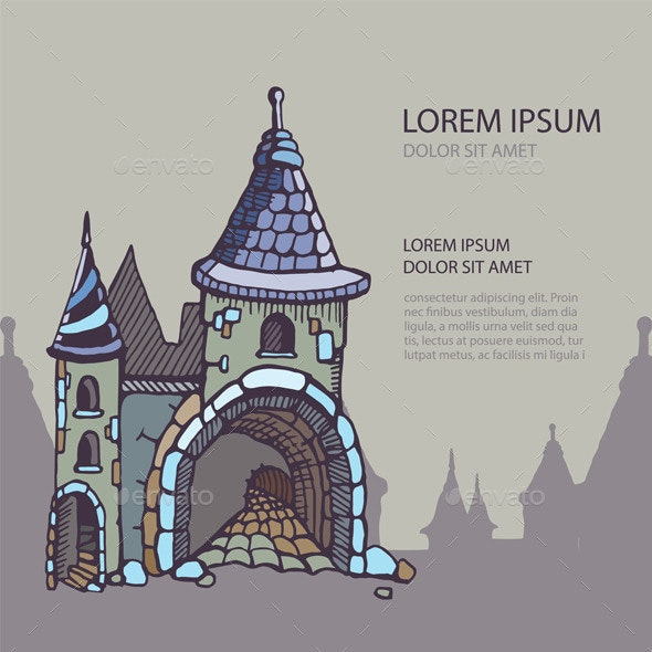 Medieval Castle Background - Buildings Objects