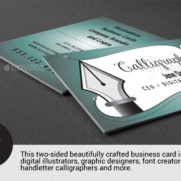 Business card for Illustrators - Curve Queens