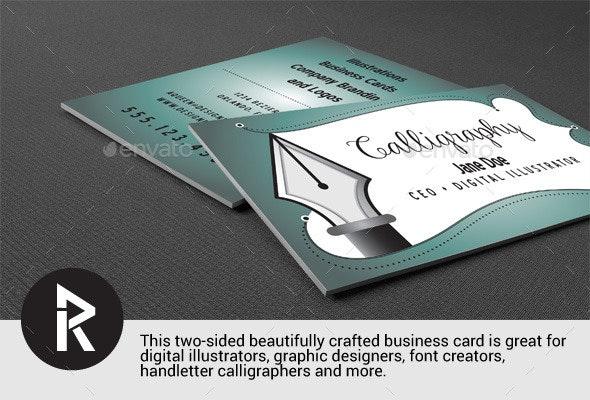 Business card for Illustrators - Curve Queens - Retro/Vintage Business Cards