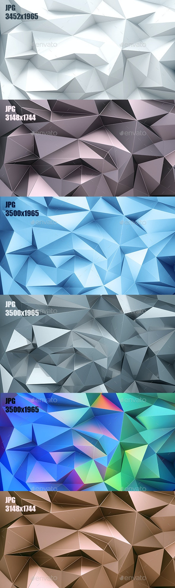 Set Of Poligonal Abstract Backgrounds - Abstract Backgrounds