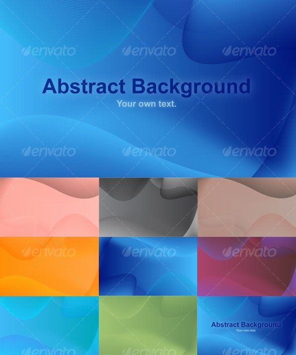 Multiple Abstract Background Pack (8 Different BGs) - Backgrounds Decorative