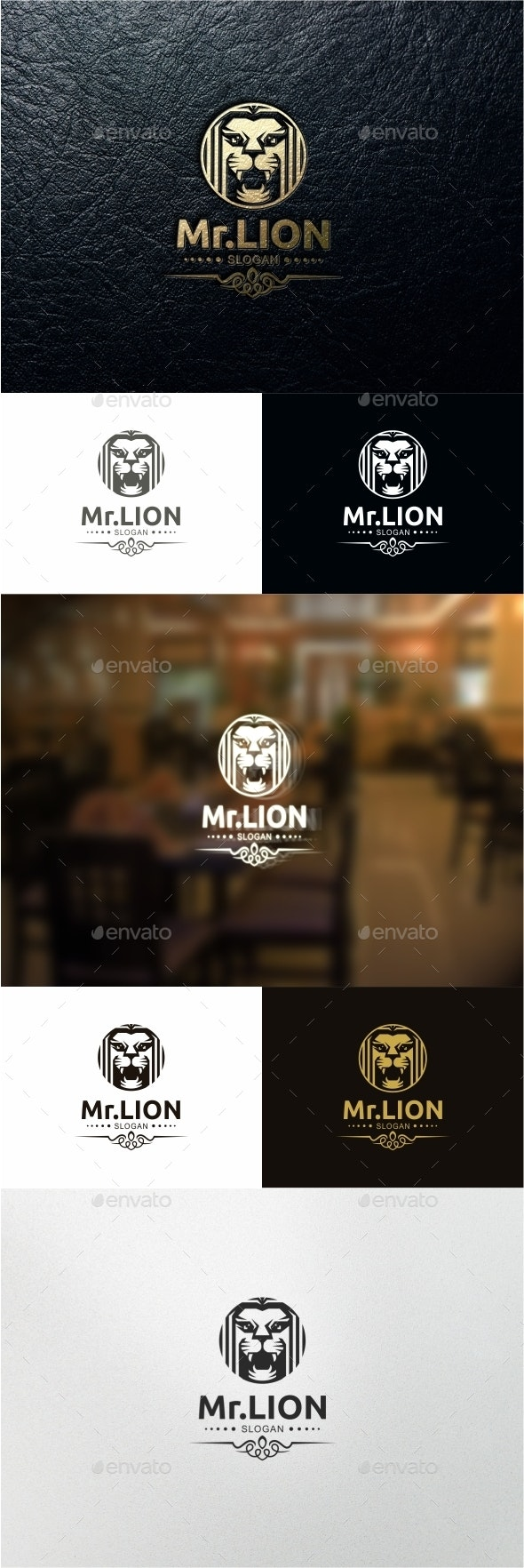 Lion Vintage Logo - Animals Logo Templates