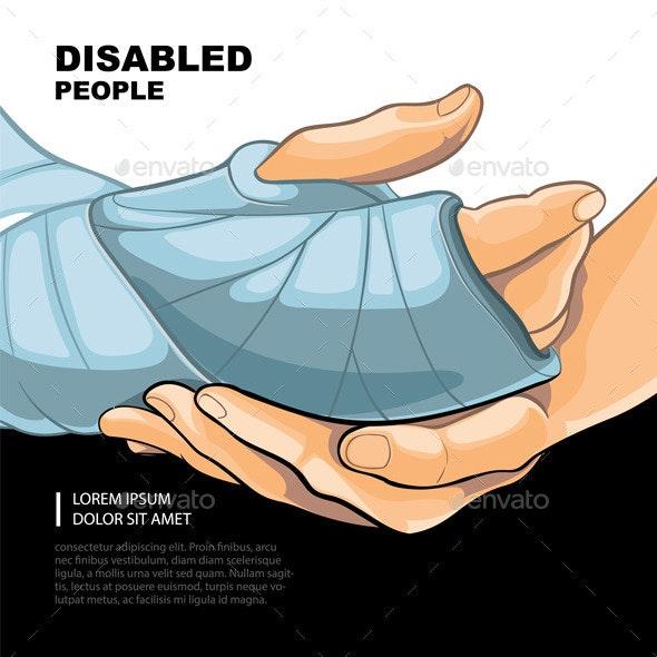 Broken Right Hand - Health/Medicine Conceptual