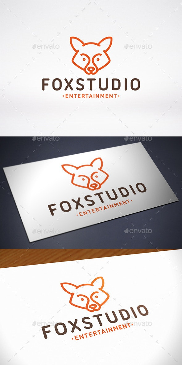 Fox Studio Logo Template - Animals Logo Templates