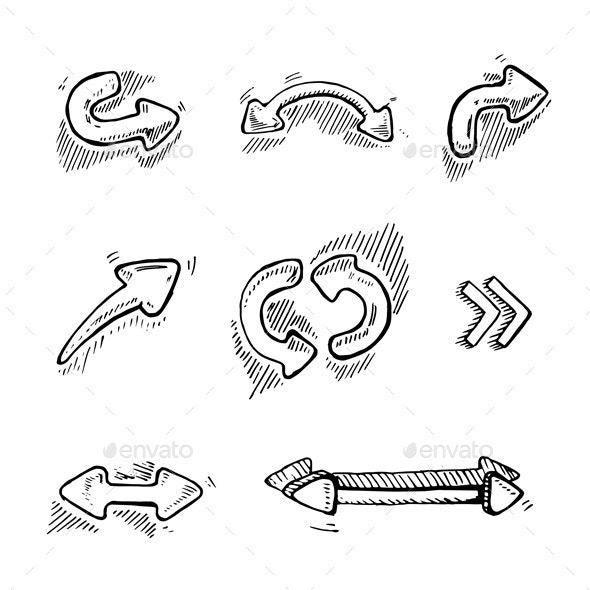 Arrows Set - Web Elements Vectors