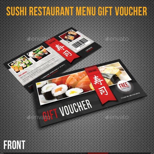 Sushi Restaurant Menu Gift Voucher 04