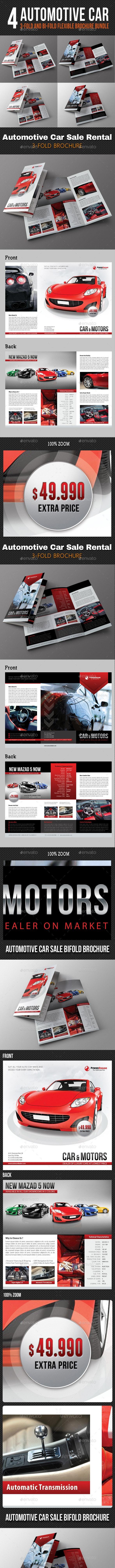 4 Automotive Car Sale Rental Brochure Bundle - Corporate Brochures