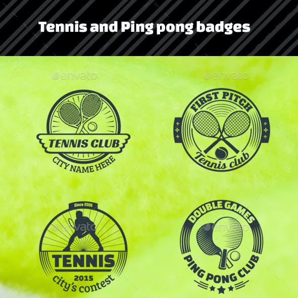 Tennis and Ping Pong Badges