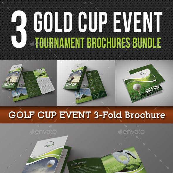 3 in 1 Golf Cup Event Brochure Bundle