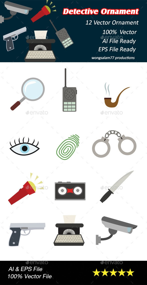Detective Ornaments - Man-made Objects Objects