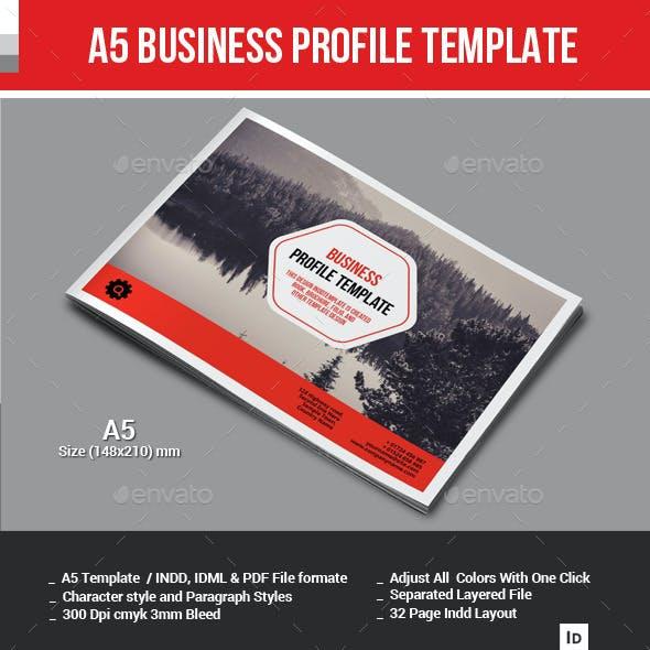 A5 Business Profile Template