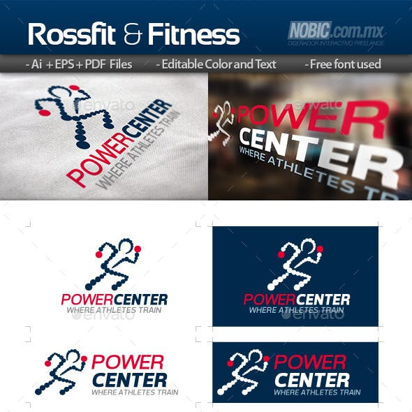 Rossfit and Fitness - Logo Template
