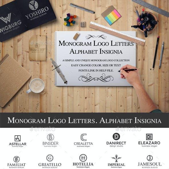Monogram Logo Letters. Alphabet Insignia