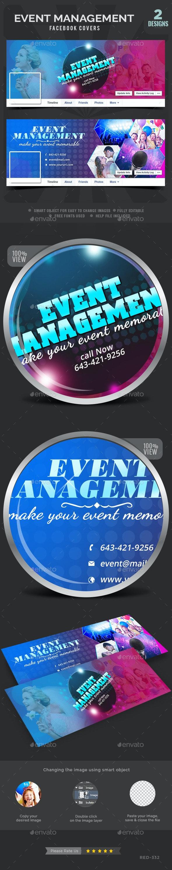Event Management Facebook Covers - 2 Designs - Facebook Timeline Covers Social Media