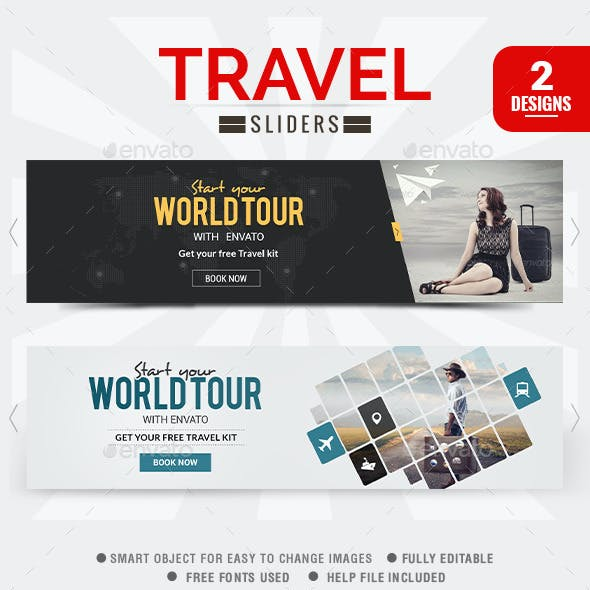 Travel Sliders - 2 Designs