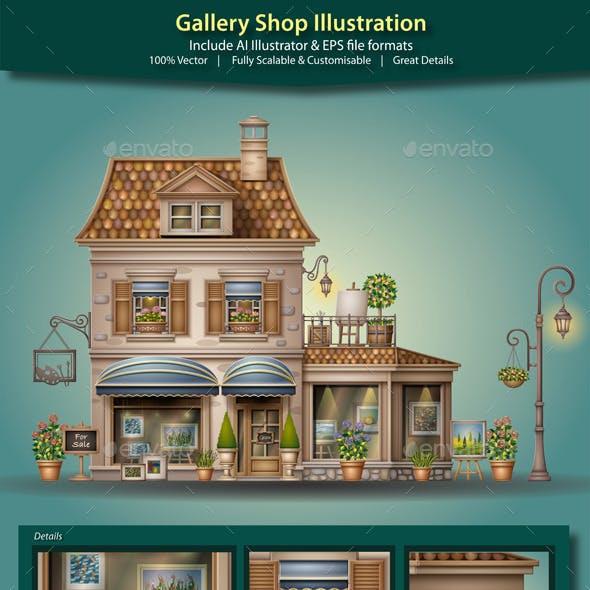 Gallery Shop Illustration