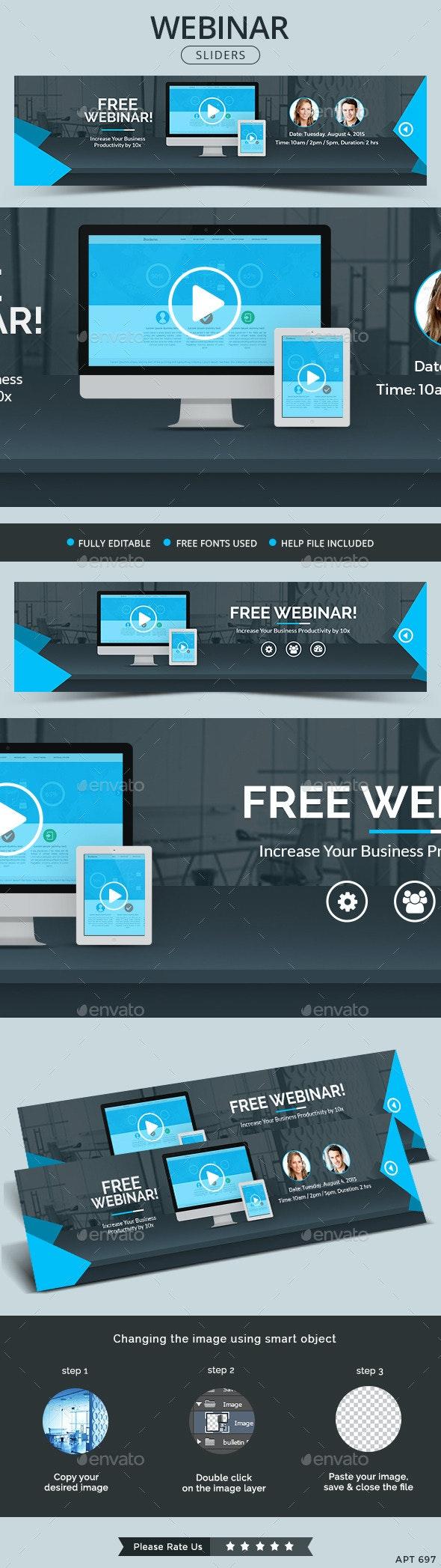Webinar Sliders - Sliders & Features Web Elements