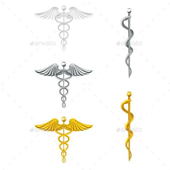 Caduceus Medical Symbols