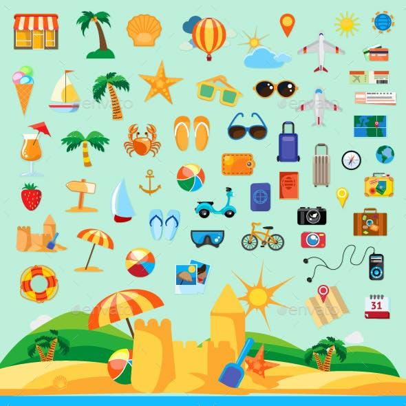 Beach Holiday Icons
