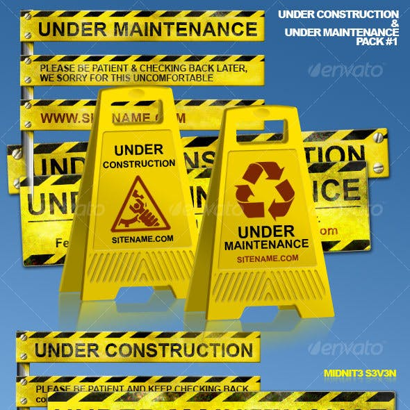 Under Construction & Under Maintenance Pack #1