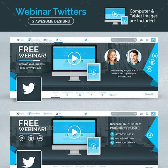 Webinar Twitter Headers - 2 Designs