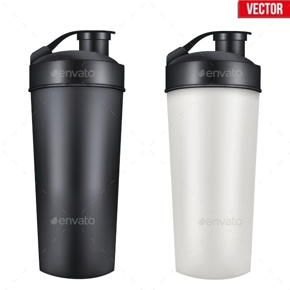 Mockup Plastic Sport Nutrition Drink Container