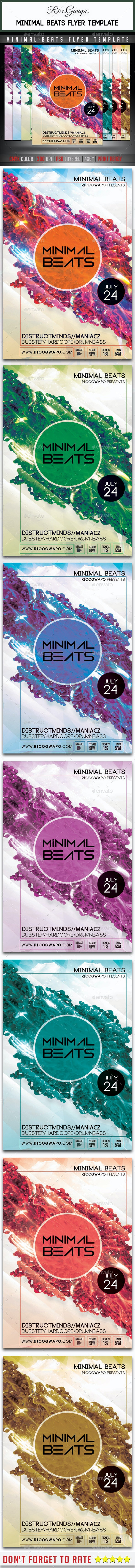 Minimal Beats Flyer Template - Flyers Print Templates