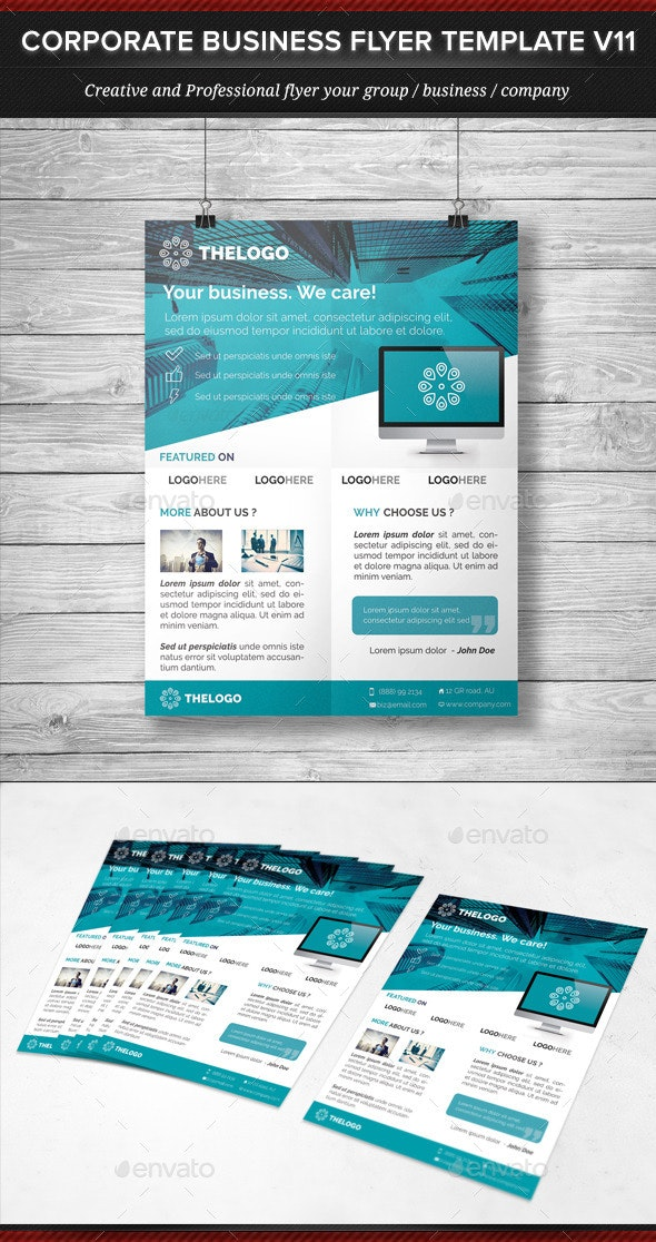 Corporate Business Flyer Template V11 - Corporate Flyers