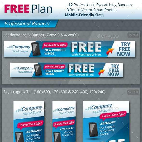 Free With Plan Professional Banners