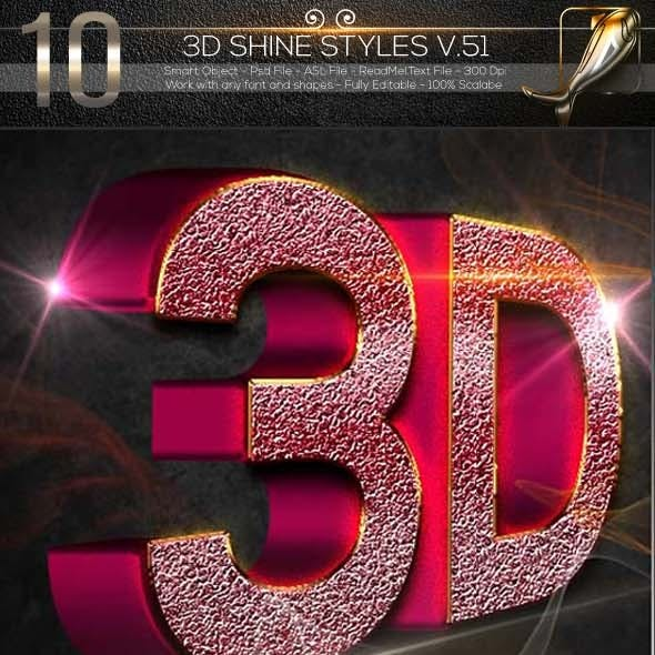 10 3D Text Style V.51