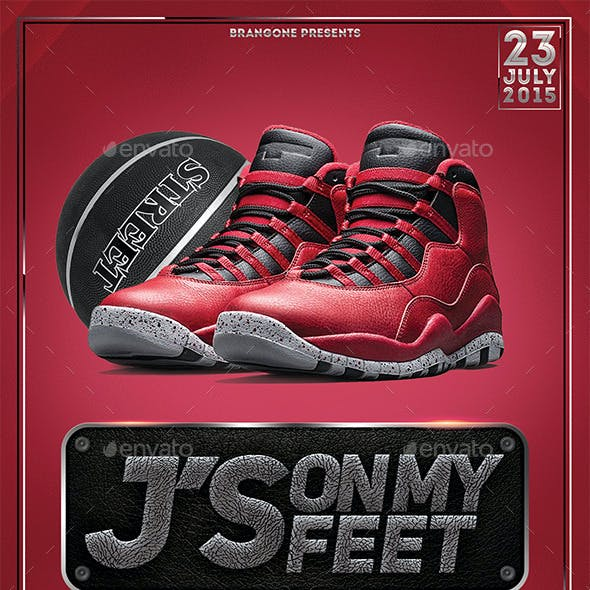 Jordan's On My Feet Flyer Templete