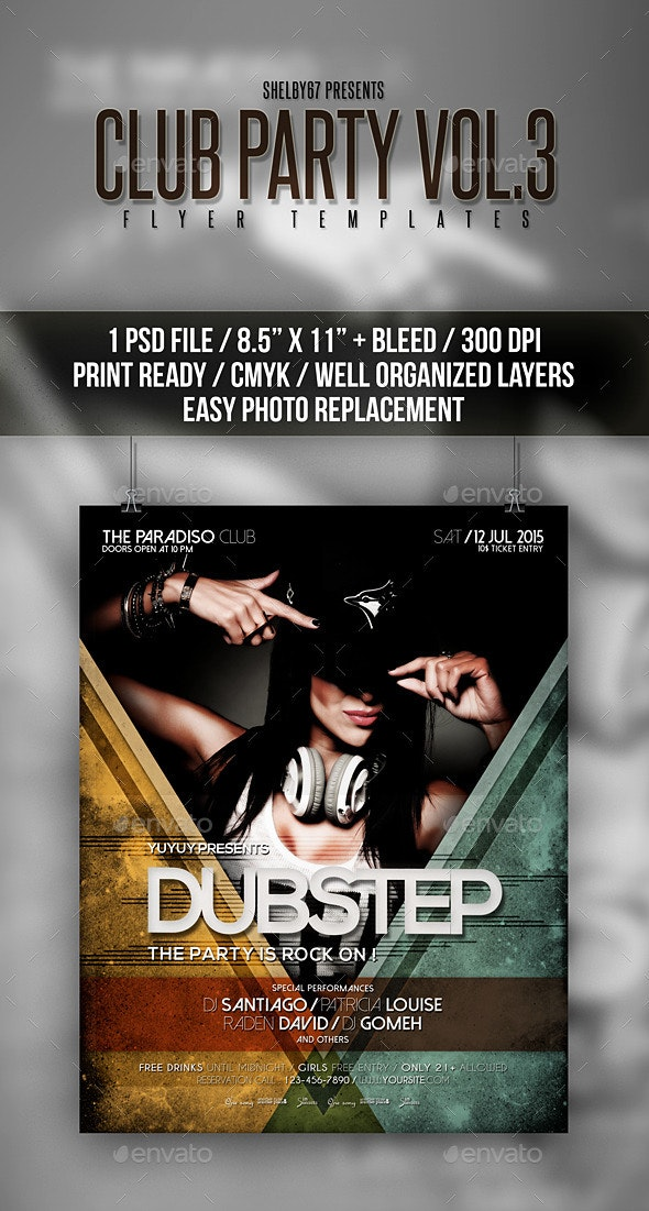 Club Party Flyer / Poster Vol 3 - Clubs & Parties Events