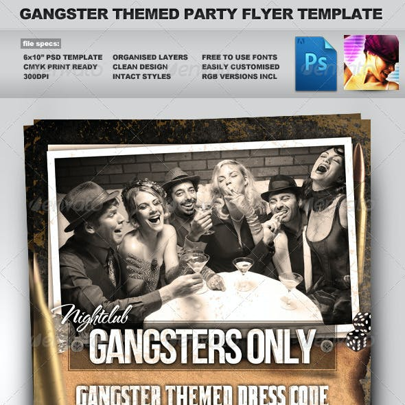 Gangsters Only - Gangster Themed Flyer Template