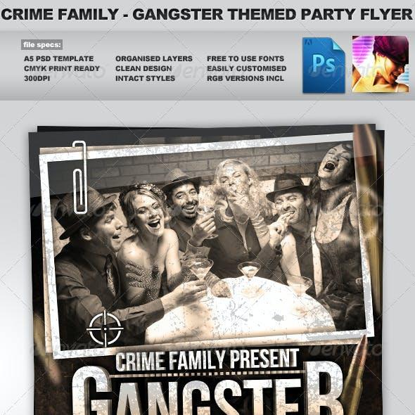 Crime Family - Gangster Themed Flyer Template