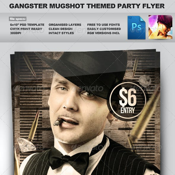 Gangster Mugshot - Crime / Mugshot Style Flyer