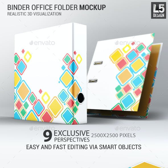Binder Office Folder Mock-Up