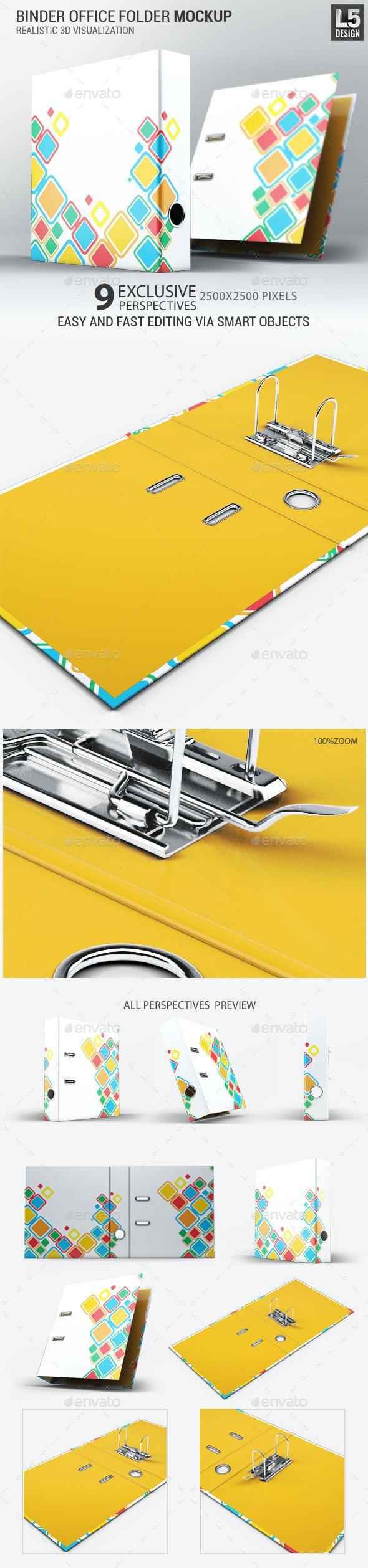 Binder Office Folder Mock-Up - Stationery Print