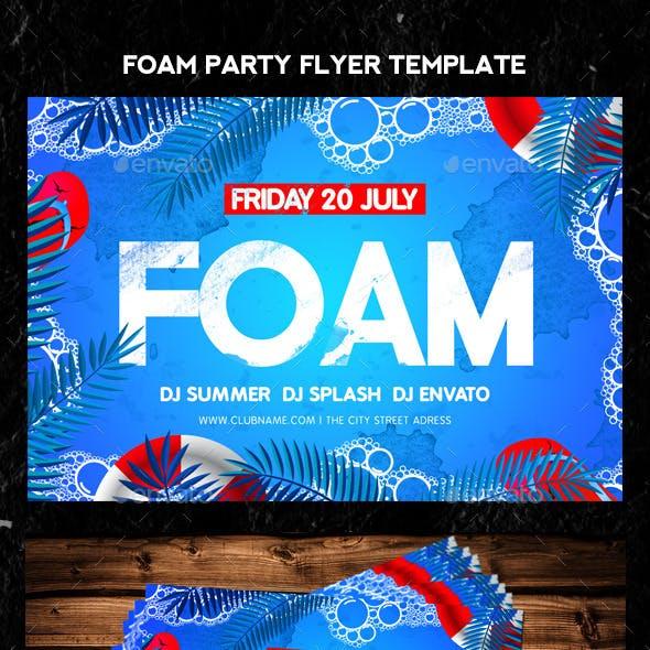 Foam Party Flyer